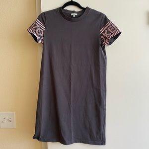 Kenzo gray pink T-shirt dress size small